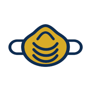 gold face covering icon
